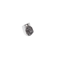 Load image into Gallery viewer, Amy Druzy Silver Colored Statement Ring In Silver Plated Brass