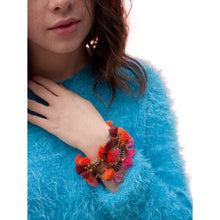 Load image into Gallery viewer, Colourful Boho Metal Beaded Tassel Bracelet With Lobster Claw Clasp