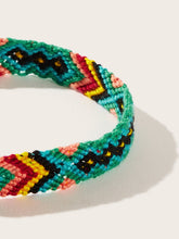 Load image into Gallery viewer, Multicolored Woven Color-block Bracelet 1pc