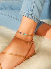 Load image into Gallery viewer, Multicolored Beaded Anklet 1pc
