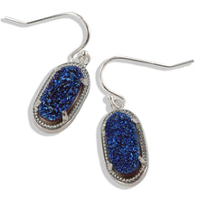 Load image into Gallery viewer, Alicia Silver Oval Druzy Earrings Over Sterling Silver Wires