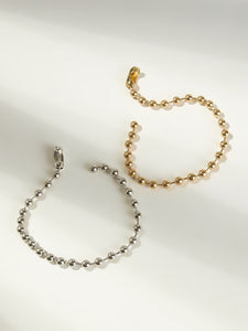 Golden And Silver Ball Chain Anklet 2pcs