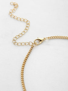 Golden Metal Minimalist Chain Choker