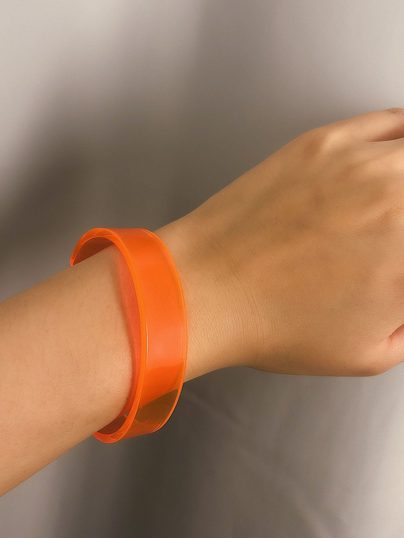 Orange 1pc Plain Cuff Bracelet