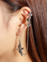 Load image into Gallery viewer, Grey Bird Design With Chain Ear Cuff 1pcs