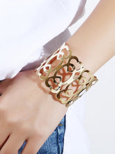 Load image into Gallery viewer, Golden Cuff Hollow Design 1pc Bracelet