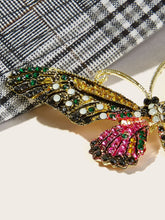 Load image into Gallery viewer, Multicolored Butterfly Shaped Rhinestone 1pc Brooch
