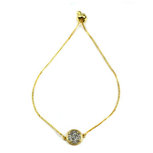 Addison Druzy Gold Adjustable Bracelet