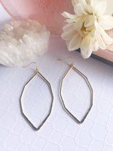 Load image into Gallery viewer, Gold Plated Brass Geometric Hoop Earrings