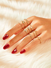 Load image into Gallery viewer, Golden Engraved Faux Pearl Ring 10pcs
