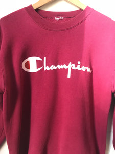 Vintage Champion Sweatshirt in Wine Color