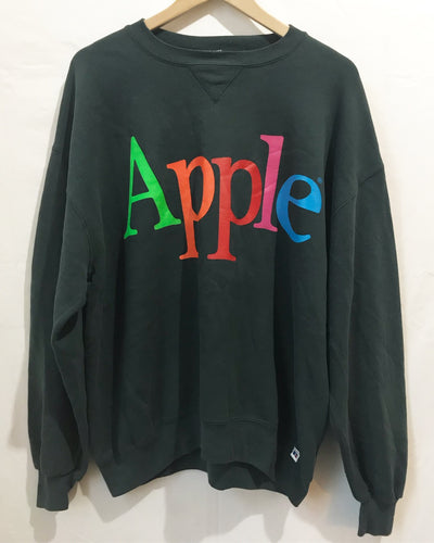 Vintage APPLE sweatshirt in Dark Grey