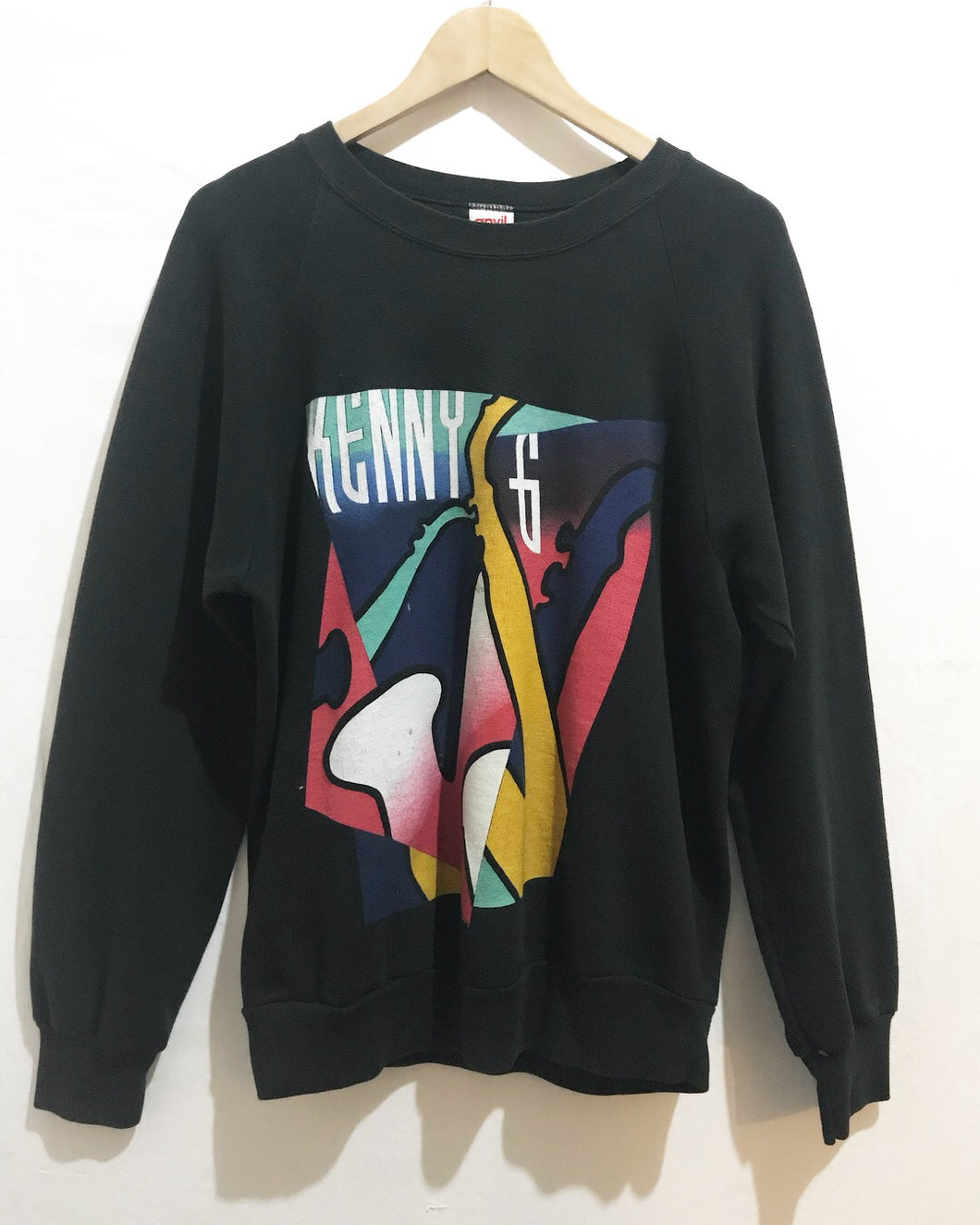 Vintage Kenny G Tour Sweatshirt in Black (©1990)