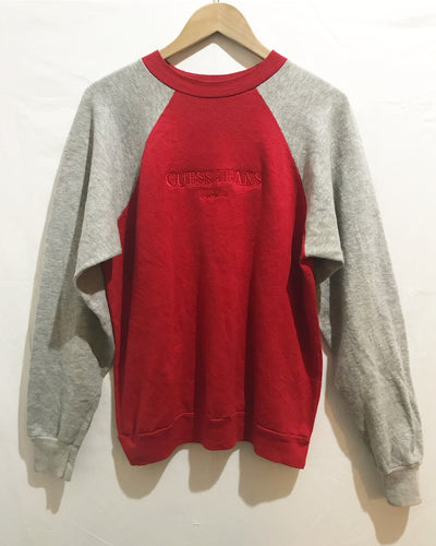Vintage GUESS sweatshirt in Red/Grey