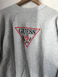 Vintage GUESS Embroidery Sweatshirt in Grey