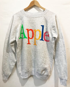 Vintage APPLE Retro logo sweatshirt in Grey