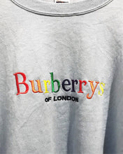 Vintage Bootleg Burberry sweatshirt in Light Blue