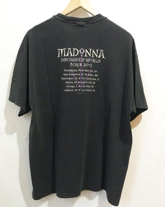Vintage Madonna Tour 2001 T-Shirt in Black