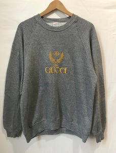 Vintage Bootleg Gucci sweatshirt in Grey