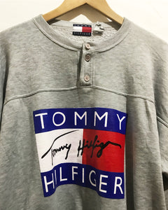 Vintage Bootleg Reprint TOMMY Sweatshirt in Grey