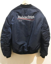 Pre-Owned Balenciaga Bomber Jacket in Navy