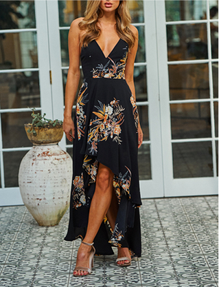Wild Flower Backless Dress