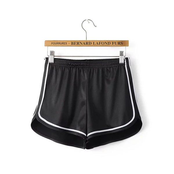 Summer Silk Beach Shorts - Black