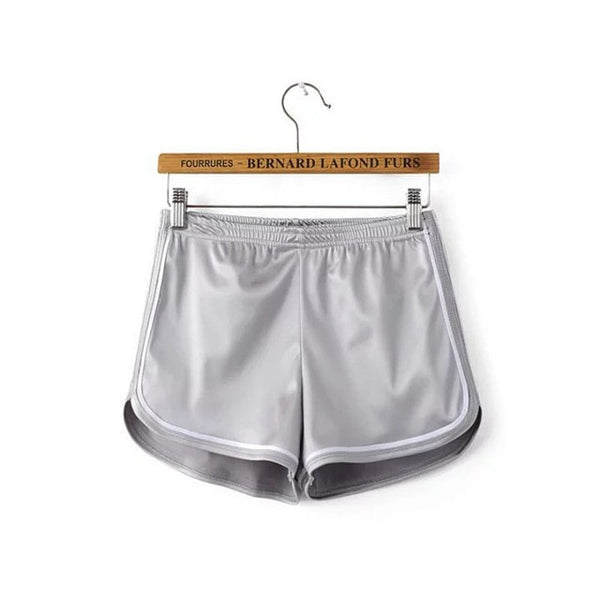 Summer Silk Beach Shorts - Silver