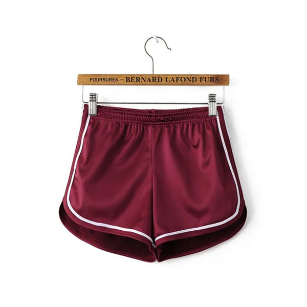 Summer Silk Beach Shorts - Red