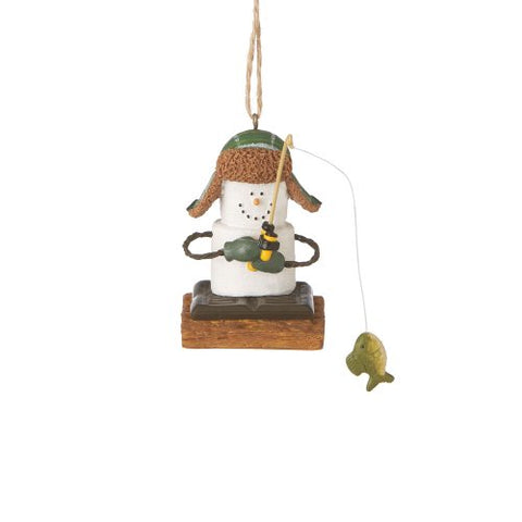 S'mores Ice Fisherman Christmas Ornament