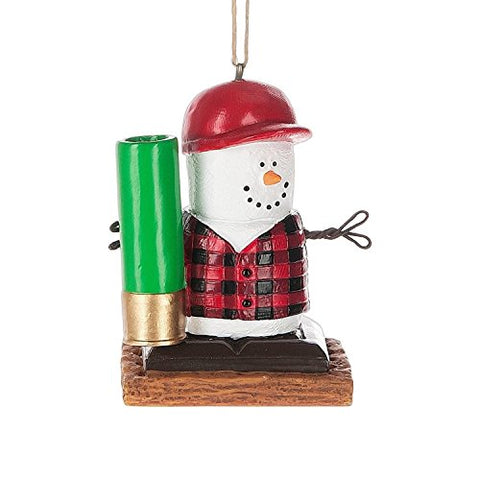 S'Mores Hunting Marshmallow Christmas Ornament