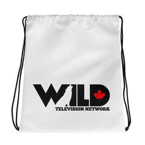 Wild TV -White- Drawstring bag