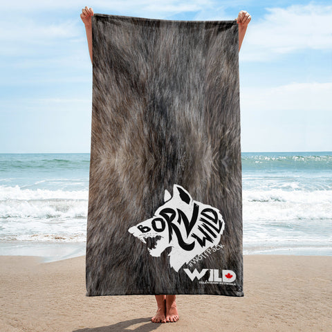 Born Wild Wolf Fur Towel