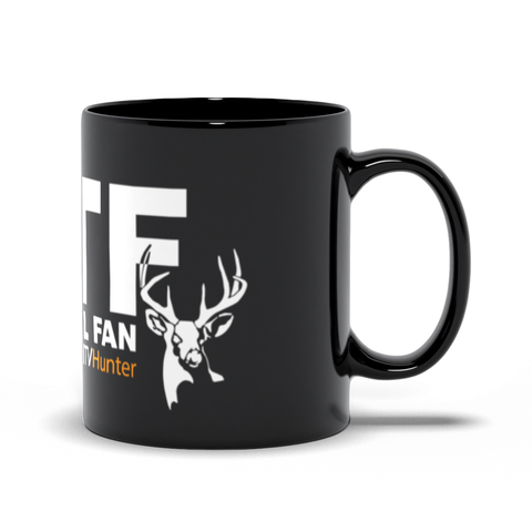 White Tail Fan Black Mug
