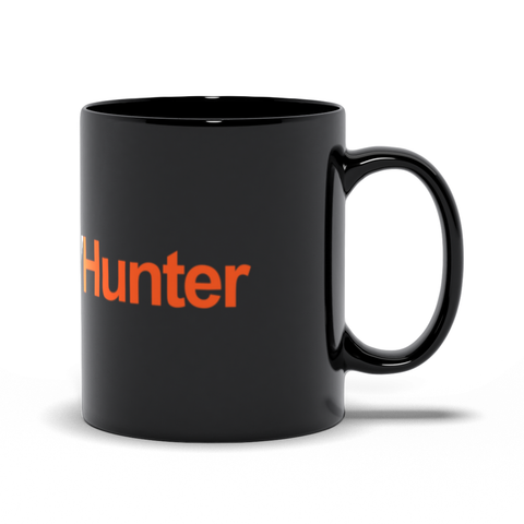 #WildTVHunter Black Mugs