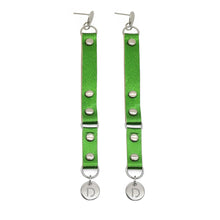 Load image into Gallery viewer, GREEN STEEL EARRINGS