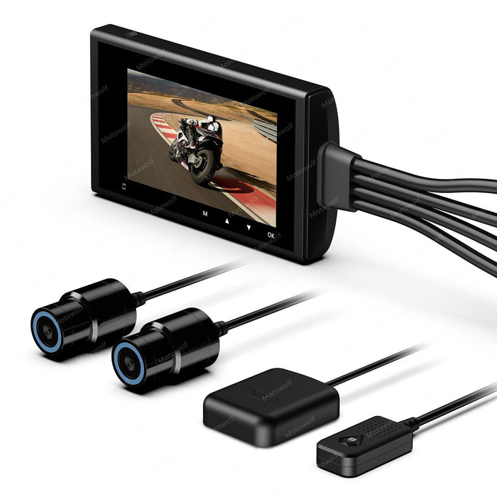 Motowolf M6 Motorcycle Dash Camera Dual 1080P  2.7