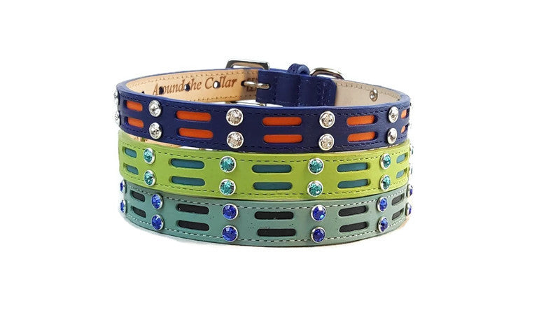 Huck leather dog collar by Around the Collar