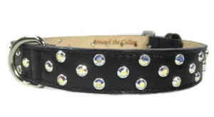 Callie Cluster of Crystals Leather Dog Collar - Around The Collar NY