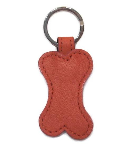 Classic Leather Bone Key FOB - Around The Collar NY