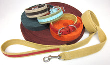 Load image into Gallery viewer, Hemp and Leather Dog Collar - Around The Collar NY