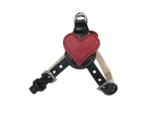 Heart Leather Step-In Harness - Around The Collar NY