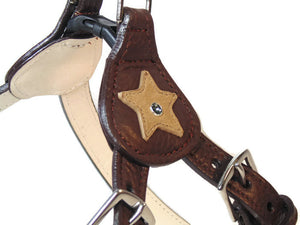 Breck Leather Star Step-In Harness with Swarovski Crystal - Around The Collar NY