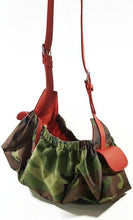 Load image into Gallery viewer, Camouflage Sling Carrier with Leather Strap & Pocket Flap - Around The Collar NY