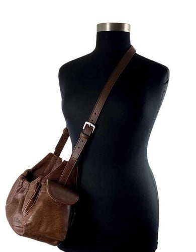 Classic Leather Dog Sling Carrier - Around The Collar NY