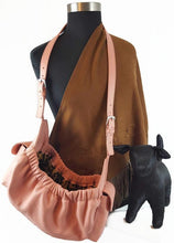 Load image into Gallery viewer, Classic Leather Dog Sling Carrier - Around The Collar NY