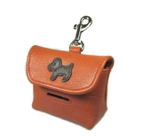 Malka Leather Dog Poop Bag Holder - Around The Collar NY