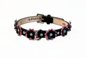 Penelope Flower Collar with Swarovski Crystals on Flower & Collar - Around The Collar NY