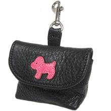 Load image into Gallery viewer, Malka Leather Dog Poop Bag Holder - Around The Collar NY