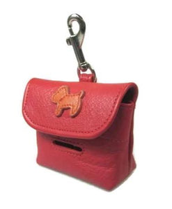Malka Leather Dog Poop Bag Holder